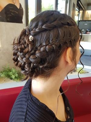 coiffure de mariée avec tresse