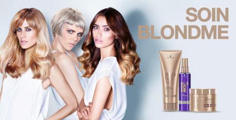 gamme soins cheveux blonds BLONDME